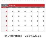 March 2015 Planning Calendar