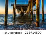 Fishing Pier And Waves On The...