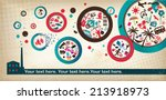 party poster template  ... | Shutterstock .eps vector #213918973