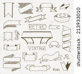 vintage doodle hand drawn... | Shutterstock .eps vector #213933010