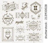 vintage hipster hand drawn... | Shutterstock .eps vector #213933028