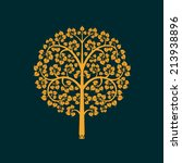 Golden Bodhi Tree Symbol With...