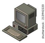 an old vintage retro obsolete... | Shutterstock .eps vector #213942220
