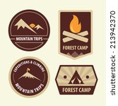 camping and hiking labels. ... | Shutterstock .eps vector #213942370