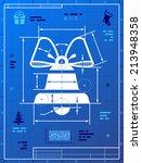 bell symbol like blueprint... | Shutterstock .eps vector #213948358