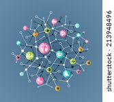 social media concept and... | Shutterstock .eps vector #213948496