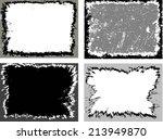 grunge frame set. vector... | Shutterstock .eps vector #213949870