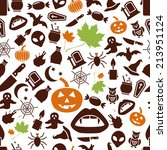 halloween seamless pattern | Shutterstock .eps vector #213951124