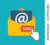 flat design concept email send... | Shutterstock .eps vector #213951184