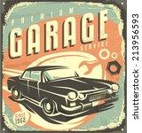 Car Service   Promotional Retr...