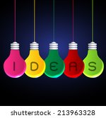 vector light bulb icons with... | Shutterstock .eps vector #213963328