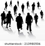 group of people | Shutterstock .eps vector #213980506