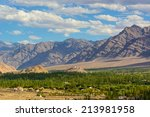mountains in the town of leh ... | Shutterstock . vector #213981958