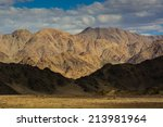 mountains in the town of leh ... | Shutterstock . vector #213981964