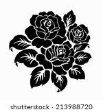 rose motif  flower design... | Shutterstock .eps vector #213988720