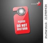 door hanger tags for room... | Shutterstock .eps vector #213989434