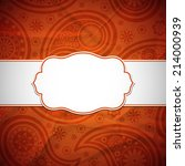 frame in the indian style on... | Shutterstock .eps vector #214000939