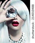 high fashion portrait of beauty ...   Shutterstock . vector #214010488