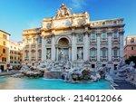 fountain di trevi  rome  italy. | Shutterstock . vector #214012066