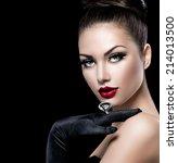 beauty fashion glamour girl... | Shutterstock . vector #214013500