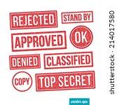 business rubber stamp set 02 | Shutterstock .eps vector #214017580