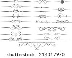 vector decorative design... | Shutterstock .eps vector #214017970