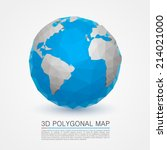 planet network earth  3d earth... | Shutterstock .eps vector #214021000