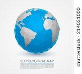planet network earth  3d earth... | Shutterstock .eps vector #214021000