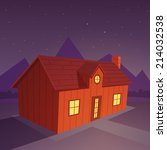house in the night | Shutterstock .eps vector #214032538