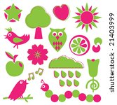 Objects Of Nature In Pink And...