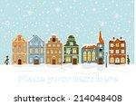 Winter Cityscape Vector...
