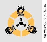 teamwork   Shutterstock .eps vector #214053016