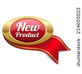 Red New Product Button With...
