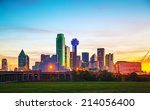 overview of downtown dallas in... | Shutterstock . vector #214056400