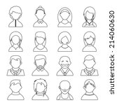 outline user icons  people... | Shutterstock . vector #214060630