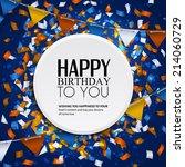 Birthday Card With Confetti An...