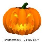 halloween pumpkin jack o... | Shutterstock .eps vector #214071274