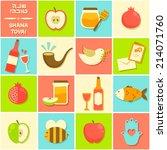 symbols of rosh hashanah ... | Shutterstock .eps vector #214071760