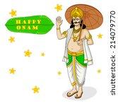 king mahabali for onam festival ... | Shutterstock .eps vector #214079770