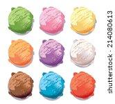 vector ice cream scoops | Shutterstock .eps vector #214080613