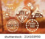 Set Of Autumn Sale Labels And...