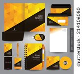 stationery set design  ... | Shutterstock .eps vector #214106080