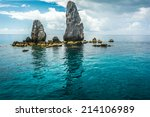 Rocks   Sea And Blue Sky Koh...