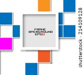 frame on the squares background.... | Shutterstock .eps vector #214109128