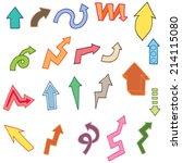 vector set of arrow | Shutterstock .eps vector #214115080