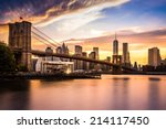 Brooklyn Bridge At Sunset...