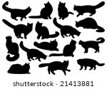 big set of cat's silhouettes | Shutterstock .eps vector #21413881