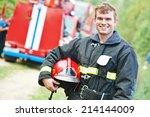 Young Smiling Fireman...