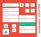 style flat ui kit design menu...