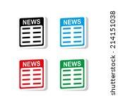 news icon   vector | Shutterstock .eps vector #214151038